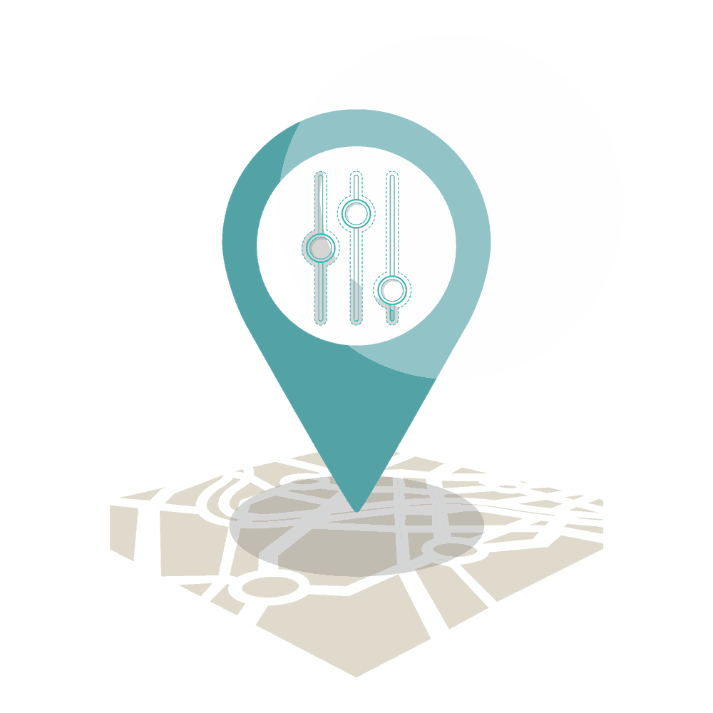 illustration schéma géolocalisation
